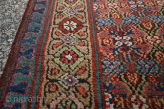 Antique camel wool Sarab Runner, dated 1874. Beautiful colors and lattice design. Rare with the date.  10ft 4in x 33in  Cheers!