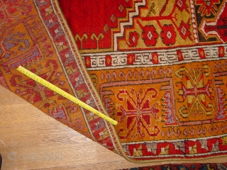 wonderful condition, some minor corosion in the brown, has been hanging over the years, there is stitched at the backside a wonderful fabric to hang, selvedges look recently recasted, very profession, original  ...