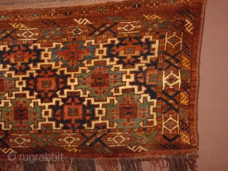 fabulous ersari antique cameltrapping, with all wonderful colors and in great condition!!! full pile, no repairs