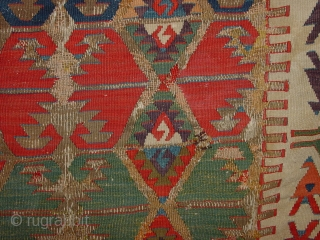 fabulous pattern and nmatural colors, very, very antique, beautifully mounted on lined and secured in several places  110x160cm 3.7x5.3ft