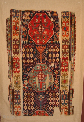 MOGHAN vvery antique 200 y , mounted on linen 98x162cm  3.3x5.6ft  the linen 123x182cm 4.1x6.1ft