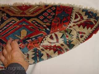 fabulous 1880 MOGHAN RUGFRAGMENT In grear condition 99x40cm 3.3x1.3ft