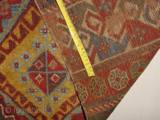 wonderful antique 1840 CAUCASIAN RUG FRAGMENT, clean, flexible, no stains, fabulous natural colors  125x82cm 4.2x2.7ft