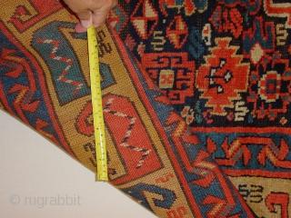 fabulous 1850 saudj b. large rugfragment,  clean 87x105cm 2.9x3.5ft