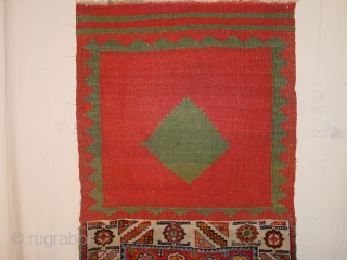 very nice kaskay bag , with very nice original kelimback ca 1920, great natural colors and good pile all over 53x106cm 1.8x3.5ft