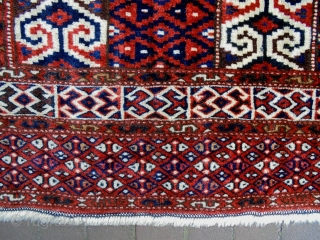 Youmuth Prayer Rug Size: 103x125cm Natural colors, made in circa 1910/20
