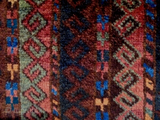 19th Century Fine Baluch Balisth Size: 59x108cm Natural colors