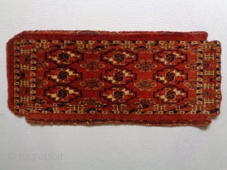 Fine Tekke Torba Size: 76x34cm Natural colors (except the orange color is a little bit faded), made in circa 1910/20