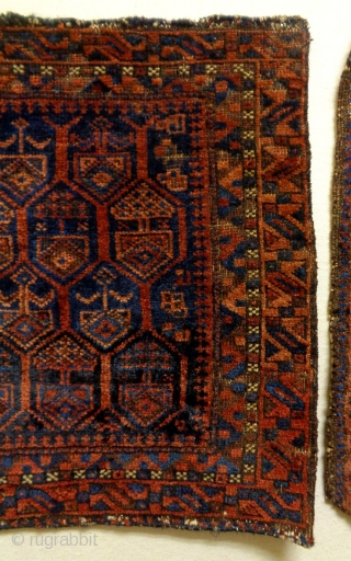 19th Century Baluch Bagfaces Size: 60x53cm and 70x58cm Natural colors