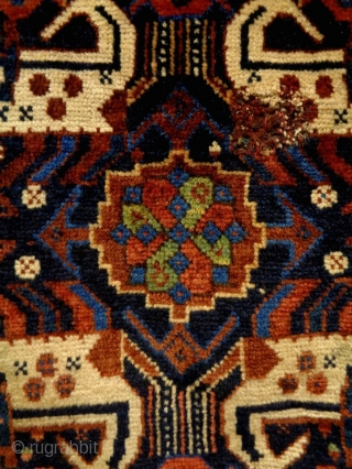 19th Century Very Fine Special Qasqhay Bagface Fragment