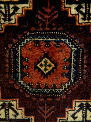 Fine Baluch Bagface Size: 47x47cm Natural colors, made in circa 1910