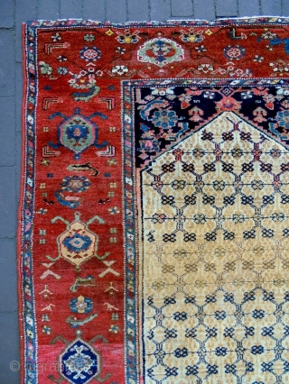Kurdish Rug Size: 122x194cm Natural colors, made in period 1910/20, there are stitch (see picture 7) and an old repair (see picture 9).