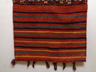 Qasqhay Bag Complete Size: 68x113cm (2.3x3.8ft) Natural colors, made in circa 1910