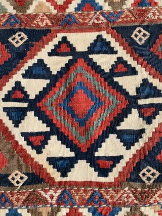 Shahsevan Mafrash panel 1880 circa all good colors and very good condition>size58x53cm