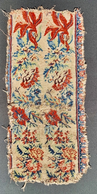 very old Bijar fragment wool on wool size 73x35cm