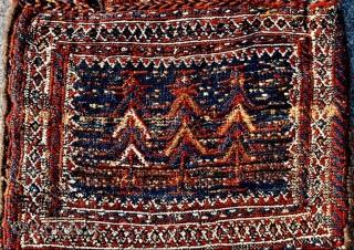 beautifull Luri Bakhtiyai Saltbag sumak technique 1880 circa•••60x48cm