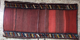 compelete dated(1330) khamseh saddlebag in perfect condition,Size:130 x 60 cm