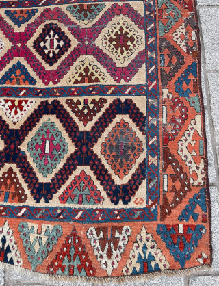Early 19th Century Sivas Rug size 123x252 cm