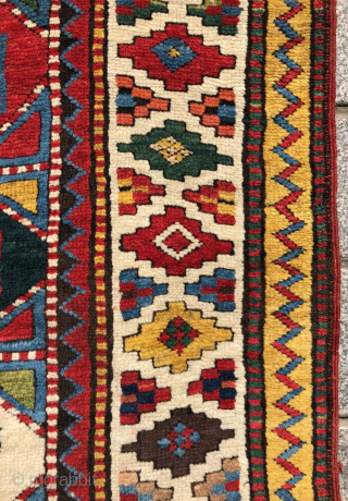 Amazing Caucasian Moghan Rug circa 1870 size 128x265 cm The piece in perfect condition
