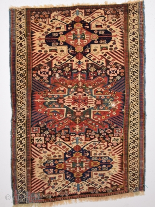 Mid 19th Century Shirvan Zeijva Rug size 112x156 Cm Really Fine and Colorful one