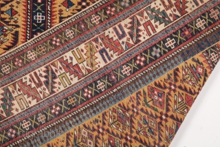 Very Fine Shirvan Prayer Rug circa 1880 size 112×145 cm really fine quality and colorful one also in good condition