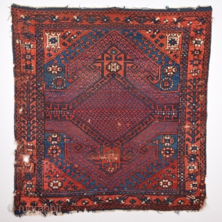 Early 19th Century Small Yuncu Rug size 128x131 cm