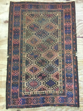 ca.1880 Baluch rug, turks knoted, size 120x75 cm