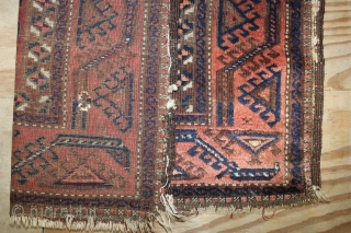 Wondeerful Baluch Rug,,natural colours,size:147x87 cm 4.10x2.11 ft