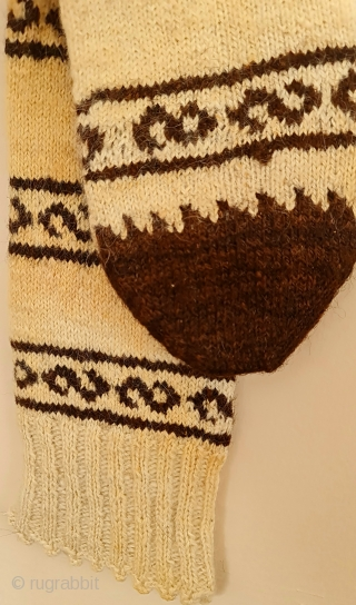 Natural wool . Central anatolia region . Socks .