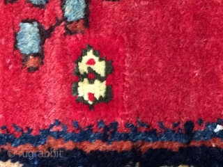 Antique handmade  Persian Afshar rug,wool&cotton,so cute,amazing design,All in natural,  Worn in places,Tow places is old repair,up 80 years old  Size:171cm by 141cm