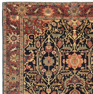 "Antique Persian Kashan Rug. 4'5"" x 7' (135x210 cm). Very good condition, no issues, all original."