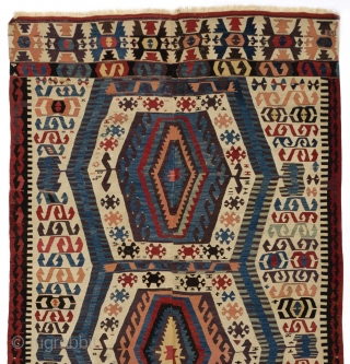 "Antique Anatolian Kilim from Afyon Area, ca 1800, 5' x 12'2"" (151x372 cm)"