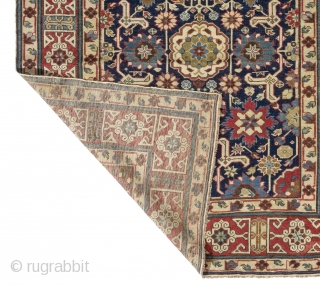 Exceptional Antique Afshan Kuba long Rug with kufic border, Northeast Caucasus, first half 19th century, 