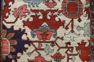 "Fantastic Heriz carpet fragment made into a long runner. Approx 12' x 3'0"" circa 1880"
