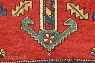 """Antique Meshkin rug in good condition. Showing slight wear, this rug has been professionally cleaned and had all sides secured. Ready for your floor!  3'4"""" x 7'6"""" / 101 x 229"""
