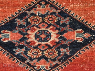 """Malayer with beautifully nuanced medallions from the 1st quarter of 20th century.  (Dimensions 4'7"""" X 6'6"""")"""