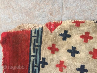 Tibet back carpet, circa 1880 s, size 105 cm wide width 105 cm, 102 cm high, all wool, welcome to inquiry