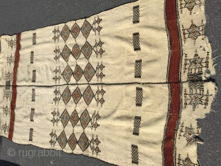 North african kelims  Wool and wool Size 252/135 cm