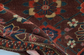 beautiful end 19th century Ersari Big Storage Bag 181 x 111 centimetes as found untouched. with nice hot red ( as usual with colorrun on yellow area flowers)  and many many silk  ...