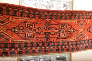 19th century Full pile! All natural colors Turkoman Ersari, Problay Kizilayak tribe.. Nice big size 177 x 45 centimeters Soft Lustrous Wool 