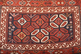 Stunning End 19th century Luri Storage bagfce with mixed technique all Natural dyes Beautiful Tribal Patern  Ready to display on your beautiful wall at home or office  size aprox 105 x 85 centimeters  ...