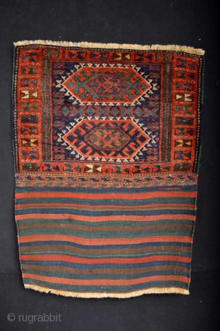 Top Qualty 19th century  Kurdish Bagface with original kilimback