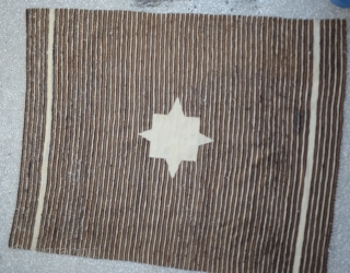 """Southeast Anatolian-early 20th century-Angora goat hair on cotton string warps-excellent condition-unusual- Siirt Size:156 x 197 Cm         5'2""""x 6'6"""""""