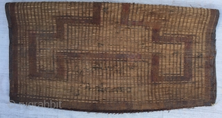 Moroccan Reed and leather Rug