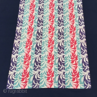 "Russian roller-printed cotton cloth. Produced in Russia for export to Uzbekistan. Size:80X57cm /2'8""X1'10"" / 32X22 inc..."