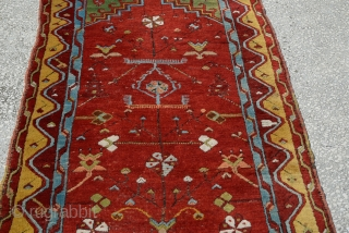 Antique Anatolian Konya Ladik Rug ,This Special Ladik Rug was hand woven by nomad women in Konya,  a city in centre of Turkey. 19th century size:177 x 97 Cm        ...