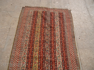 "Beautiful extra finely woven Senneh Kilim,with great design and colors,as found a cut on upper side,all 100% wool,Size 4'7""*2'7"".E.mail for more info and pics."