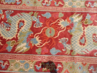 Tibeat Dragon Rug with nice colors and very good condition,Size 6*3ft.E.mail for  more info and pics.