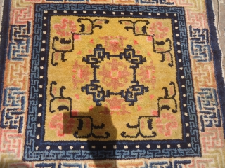 Chinese or Tibet Mat,nice colors,condition and age.Size 2'*1'11.E.mail for more info and pics.