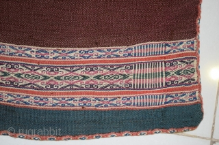 Aymara Aguayo  Textile Woven of Camelid Wool, Size, 3'9 x 3'1 Ft